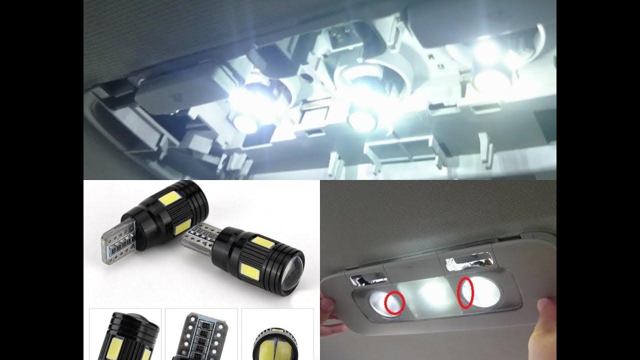 Volkswagen Passat B6 Interior Overhead Light Bulb Change Installing Wiring A T10 High Power White Led