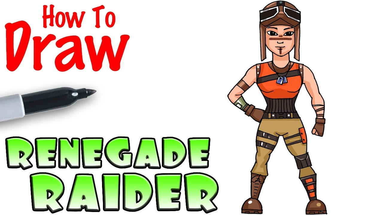 How To Draw Renegade Raider Fortnite Youtube