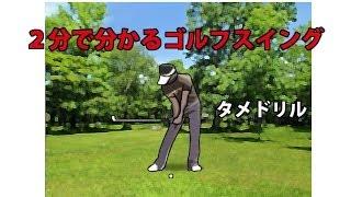 2分で分かるゴルフスイングの基本レートヒットドリル。PCで見てね。 日本のプロを真似しないほうがいい。 thumbnail