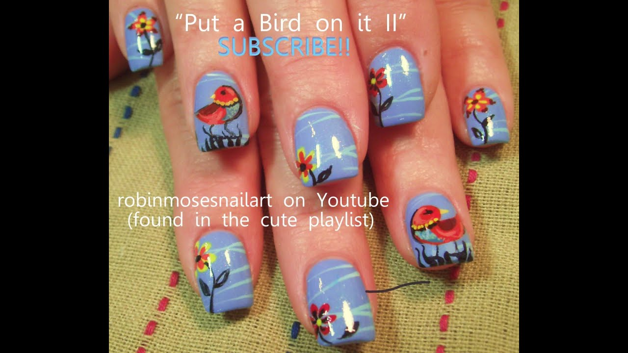 Robin Moses Nail Art February 2015: DIY Easy Bird Nails