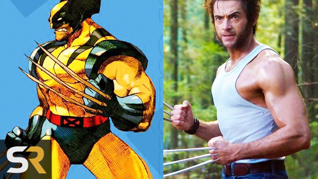 Deadpool 30 Superhéroes: 10 Superheroes Who Look NOTHING Like The Comics (Wolverine