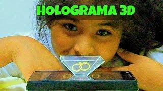 HOLOGRAMA CASERO CON CELULAR o MOVIL 3D CON CD Muy Facil De Hacer Manualidades Faciles