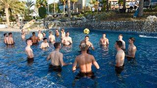 Четвертый день сбора работа с мячом и тренировка в бассейне