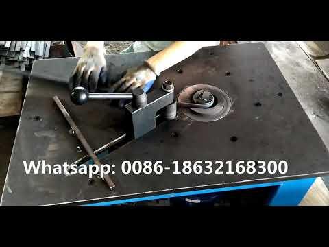 DH-DW16D Wrought Iron Metal Scroll Bender Manual Steel Scroll Bending Machine