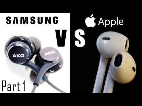 PART 1 - Apple Earpods From IPhones VS Samsung AKG Tuned Earphones