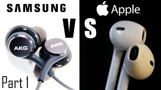 PART 1 - Apple Earpods from iPhones VS Samsung AKG Tuned Earphones