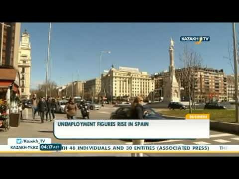 Unemployment figures rise in Spain - Kazakh TV