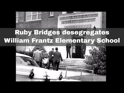 14th November 1960: Ruby Bridges, the first African-American to desegregate an elementary school