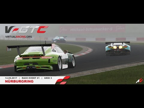 *onboard* GTC V Race#1 Grid3 Nürburgring [virtualracing.org]