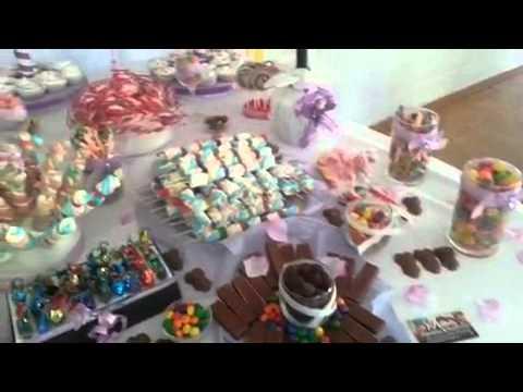 Mesa de dulce para cumple de 15 a os youtube for Mesa de dulces para xv anos