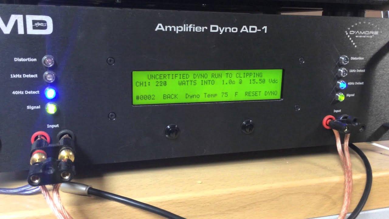 SMD AD-1 AMP DYNO : Skar Audio SK-1500 1D Certified / Uncertified / Dynamic  Burst Runs