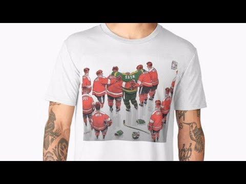 Humboldt Broncos tribute cartoon stolen for T-shirt