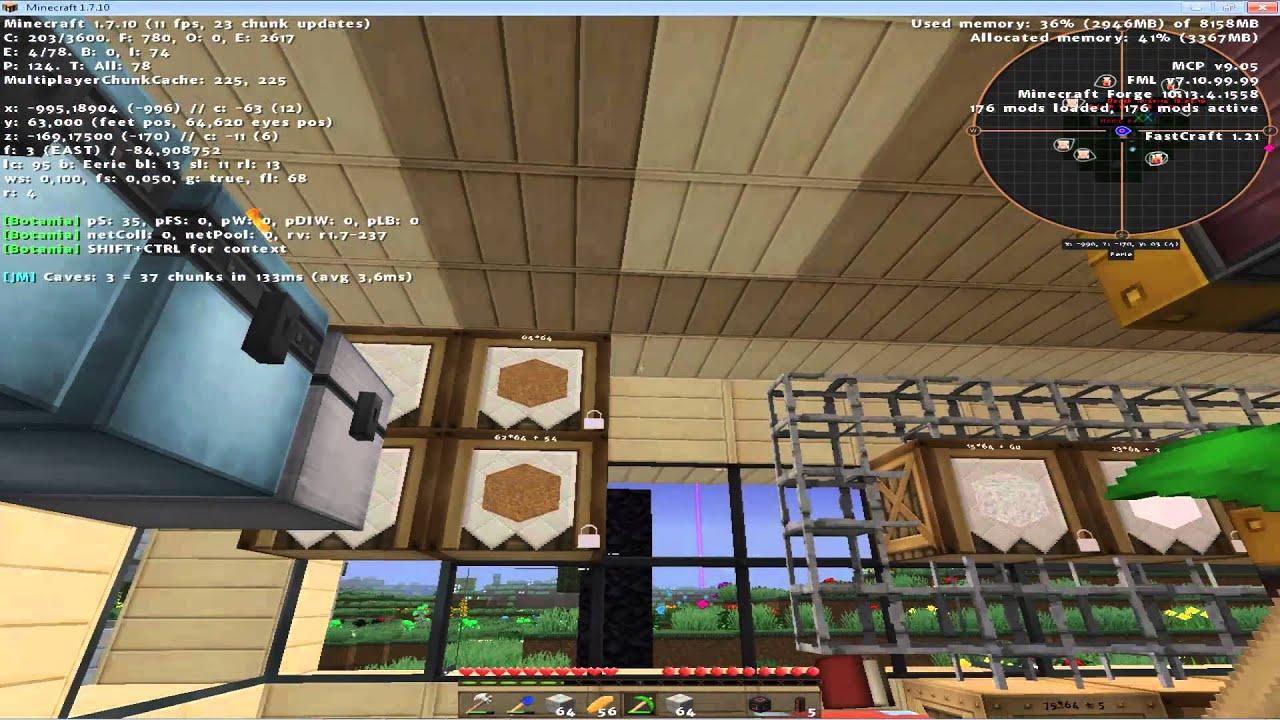 Minecraft FTB Infinity S Hausbau Und Elevator YouTube - Minecraft hausbau mod 1 7 10