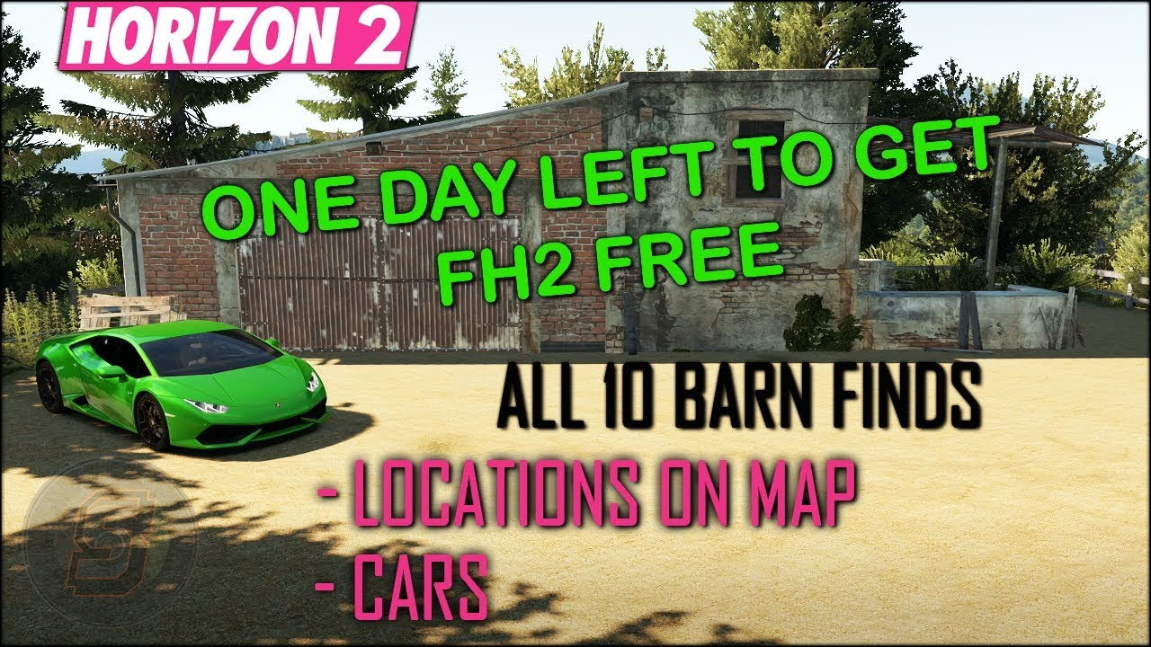 Forza Horizon 2 Barn Find Locations Map Guide - Forza Horizon 2 FREE Games  With Gold August 2018