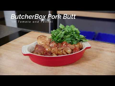 Italian Pork Butt with Fennel and Tomato (Heritage Breed Pork - ButcherBox February Feature)
