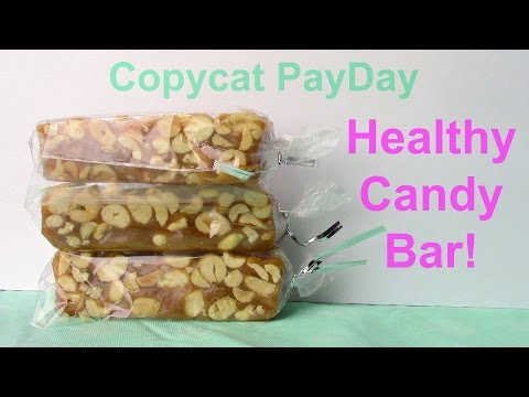CLEAN EATING Copycat Payday candy bar! (Gluten Free, Dairy Free, Refined Sugar Free)