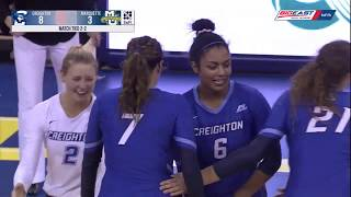 Highlights 13 Creighton Volleyball At 10 Marquette 10 12 19