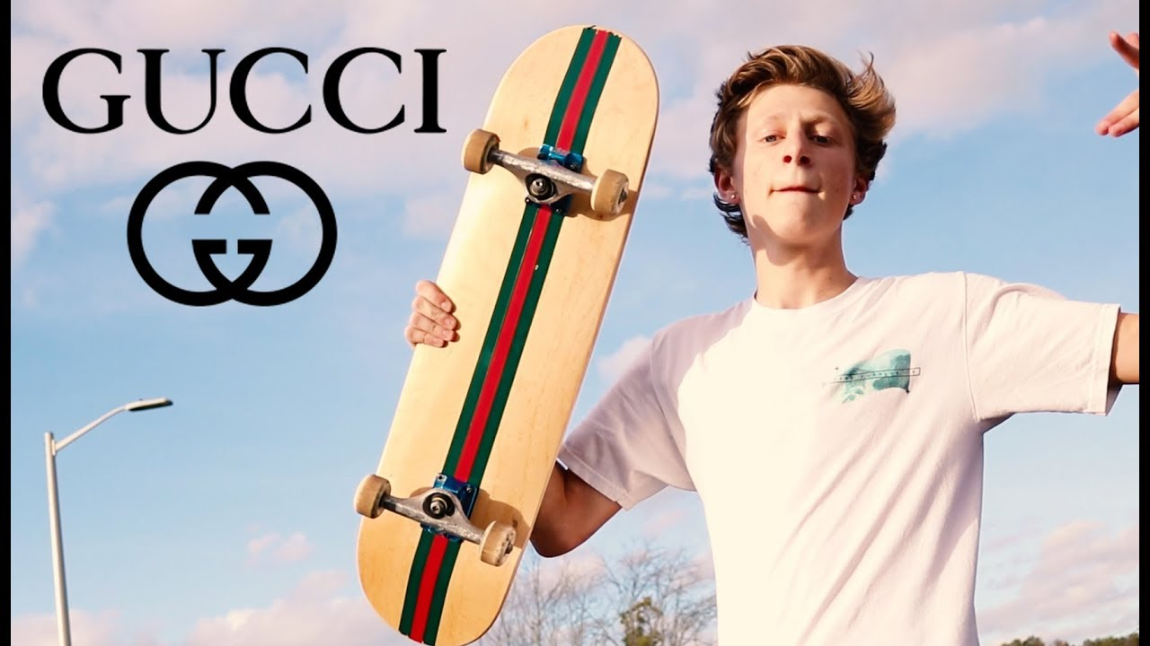 ef88e3d0044 THE ONLY GUCCI SKATEBOARD (GIVEAWAY!) - YouTube