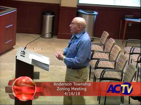 Anderson Township Zoning Meeting 4/16/18