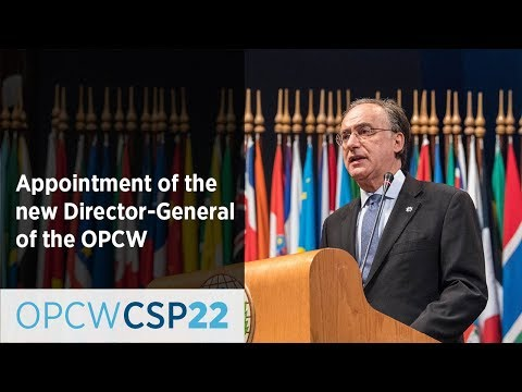 Appointment of the new Director-General of the OPCW