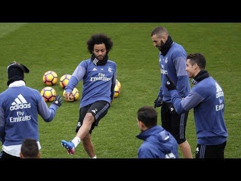Real Madrid Training Ahead Of UEFA Champions League Final Juventus Vs Real Madrid On 03/06/2017