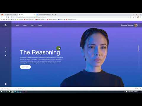 A Website With Sliding Text Using HTML And CSS