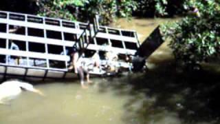 DESASTRE  Caminhão boiadeiro - bois morrem afogados e são levado pela correnteza. thumbnail