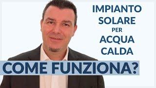 Come Funziona il Solare Termico per ACQUA CALDA SANITARIA