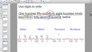 Lesson 52: Naming Numbers Through Hundred Billions