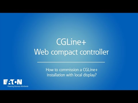 CGLine+ Web compact controller - How to commission a CGLine+ installation using the local display?