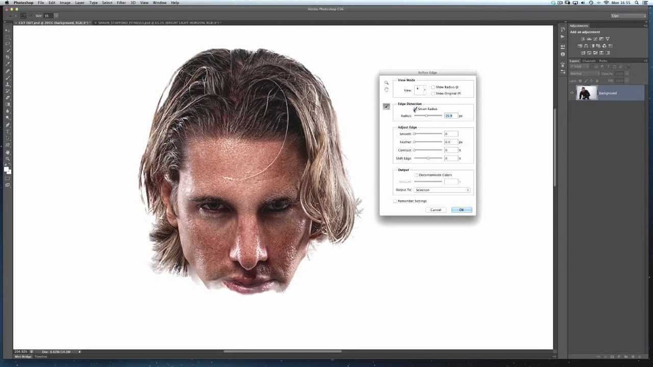 photoshop how to get fine edges on shaps