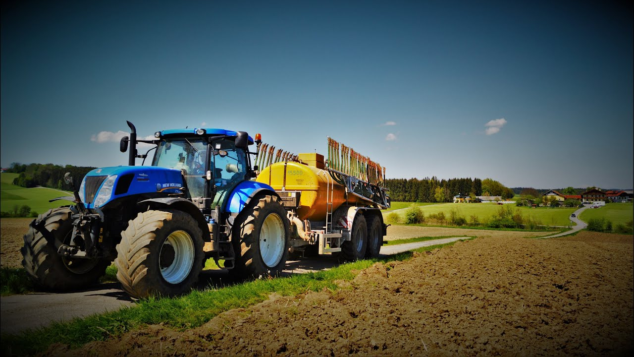 Gulle Ausbringen Eggen New Holland T7 250 Vacutec T7 270