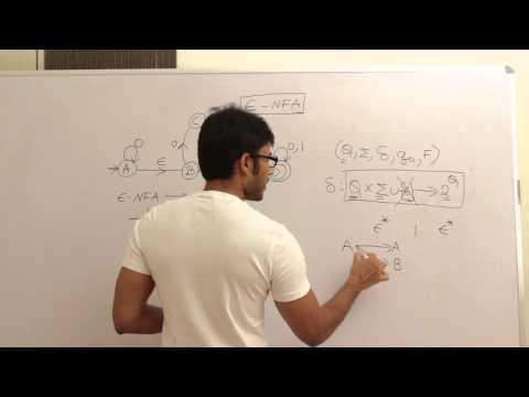 Theory Of Computation 57, Epsilon NFA and conversion of epsilon NFA to NFA