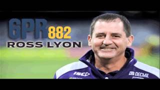 Ross Lyon on 6PR - 2.07.13