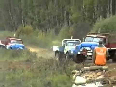TRUCK RACING IN RUSSIA - OLD SCHOOL GAZ 53 & ZIL 130