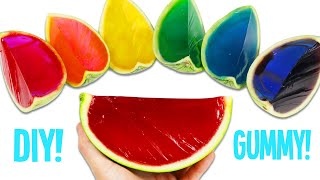 How to Make Rainbow Gummy Watermelon  Fun &amp Easy DIY Jello Gummy Treats to Try at Home!
