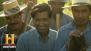 History: Cesar Chavez: American Civil Rights Activist thumbnail