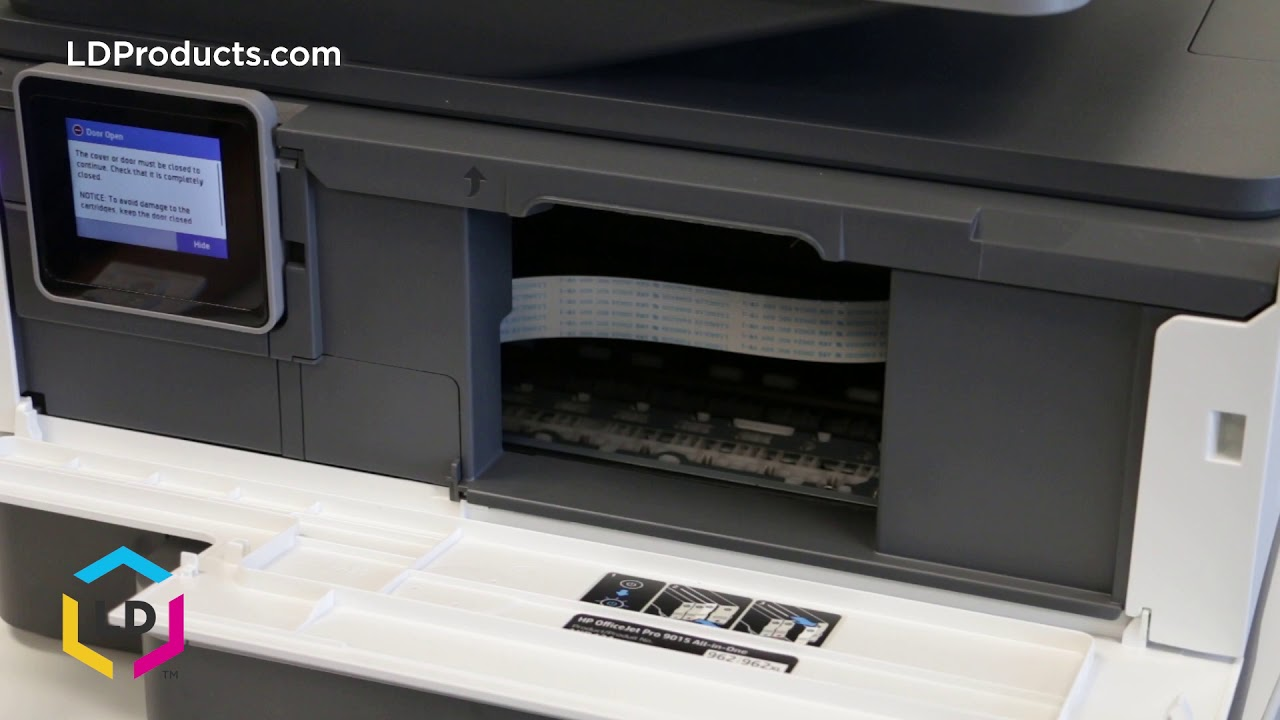 How to Replace Compatible Ink Cartridges in the OfficeJet Pro 9015 and 9025