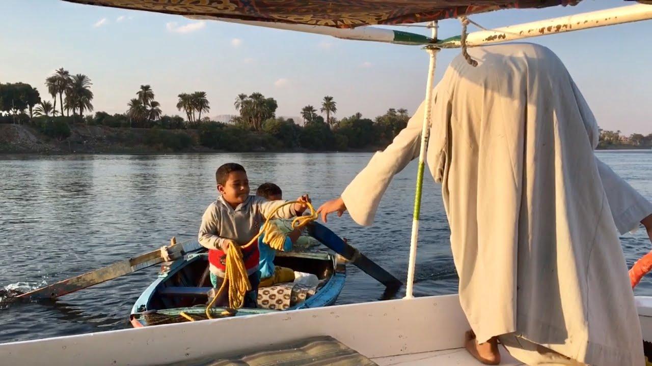 Little Fishermen get a tow at Luxor