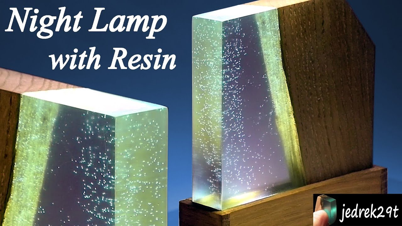 How To Make Night Lamp With Resin And Wood