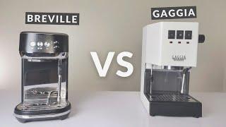 Breville Bambino Plus vs Gaggi…