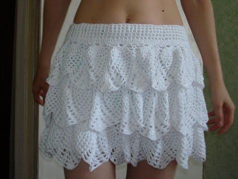 29e307197 Faldas y vestidos tejidos a crochet para dama