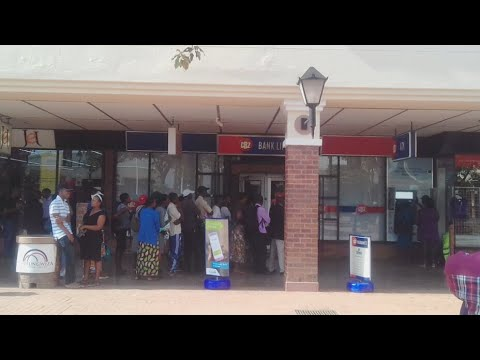 CBZ Town Center ATM giving Cash