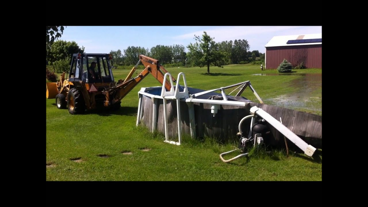 How To Easily Drain And Remove An Above Ground Pool In