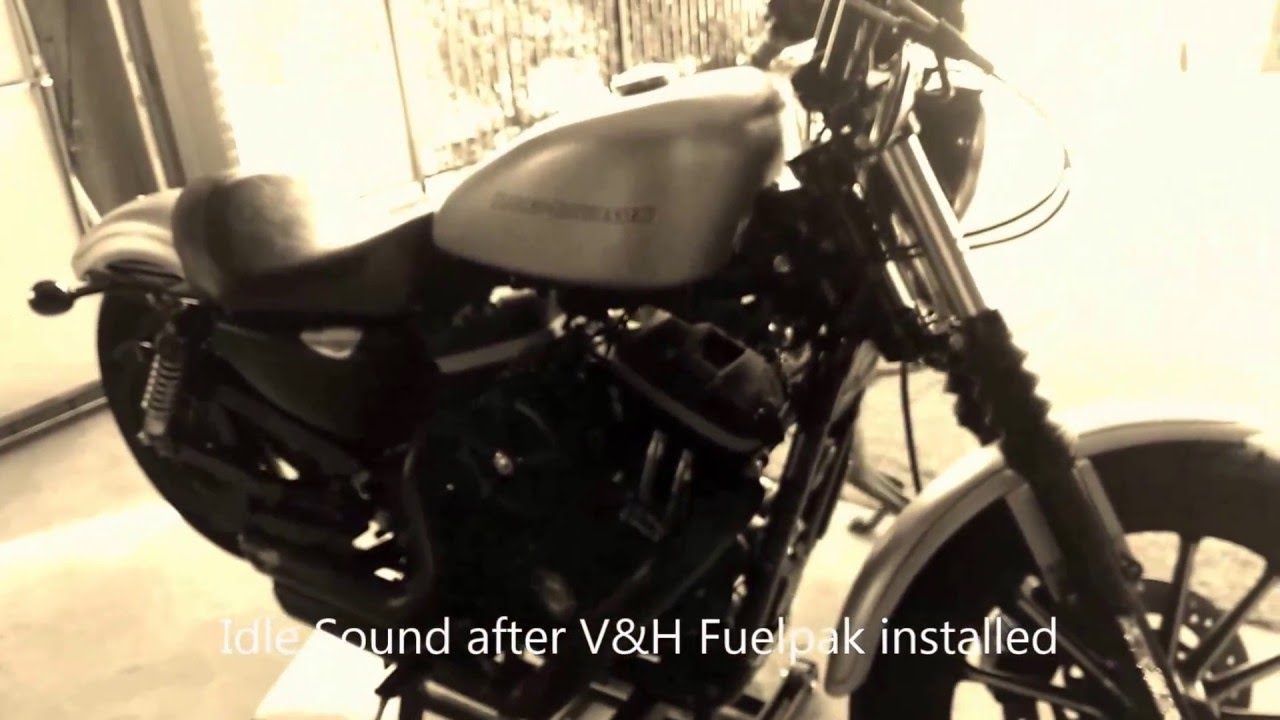 Vance & Hines Fuelpak on Harley Sportster - compare idle sounds