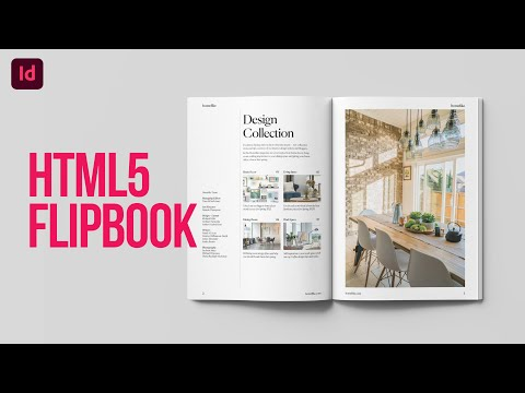 Learn how to convert Adobe InDesign interactive magazine layout into HTML5 Digital Flipbook
