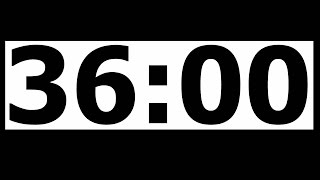 36 Minute Countdown Timer with Alarm