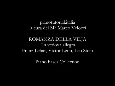 ROMANZA DELLA VILJA - Backing track - La vedova allegra - Franz Lehár - Piano bases Collection