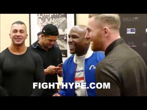 FLOYD MAYWEATHER CLOWNS WITH CONOR MCGREGOR LOOKALIKE AND REITERATES: 'WE FINNA GET IT IN REAL SOON'