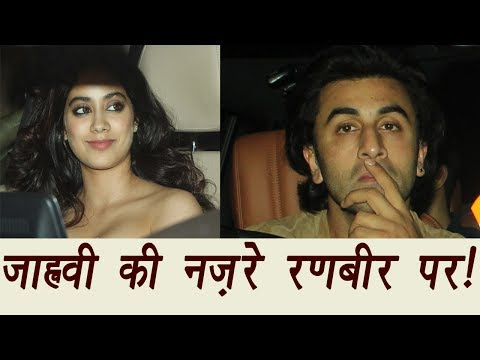 Jhanvi Kapoor seeking Ranbir Kapoor's ATTENTION at Karan Johar's Birthday Party | FilmiBeat